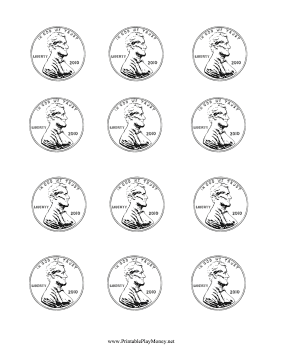 paper penny to color help kids learn to count and color with these ...